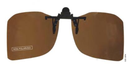 X043 Clip on zonnebril niet gepolariseerd