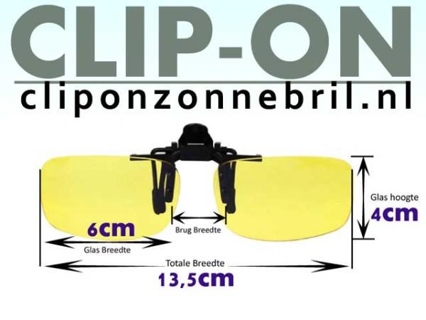 nachtbril clip-on maten
