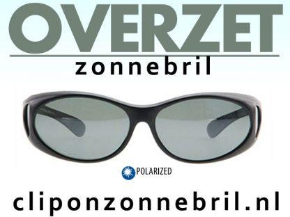 overzet zonnebril zwart mat