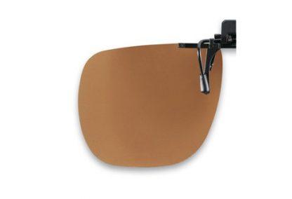 flip up bruine voorhanger zonder polarisatie