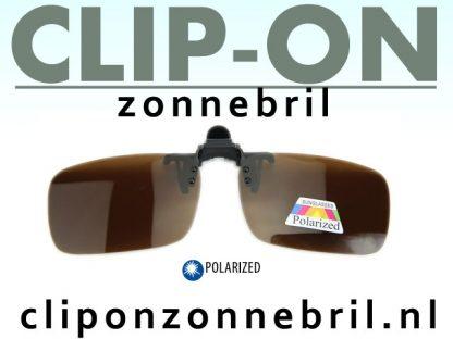 clip-on zonnebrillen bruin