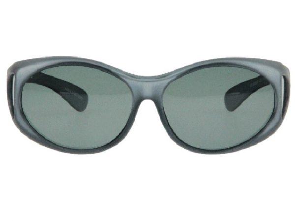 Overzet zonnebril Metallic Grijs