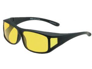 Overzet nachtbril Black Satin